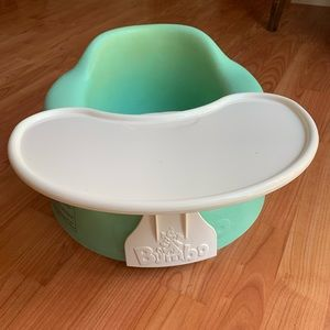 Mint Green Bumbo Seat with Tray